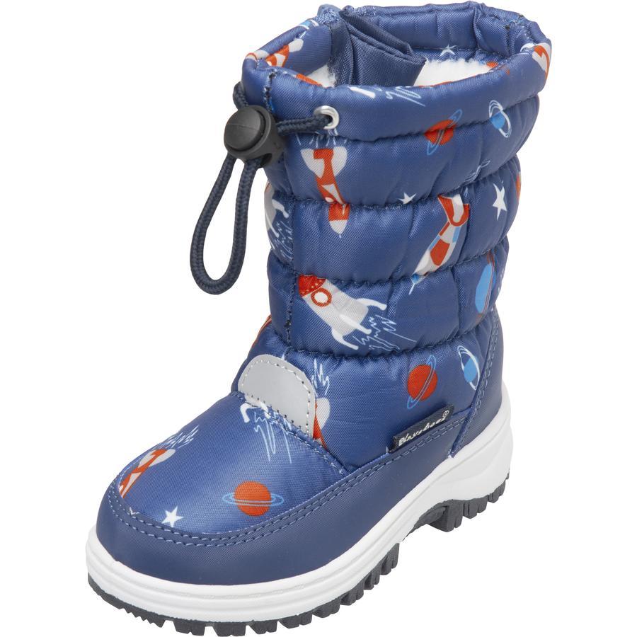 Playshoes Winter-Bootie Weltraum marine