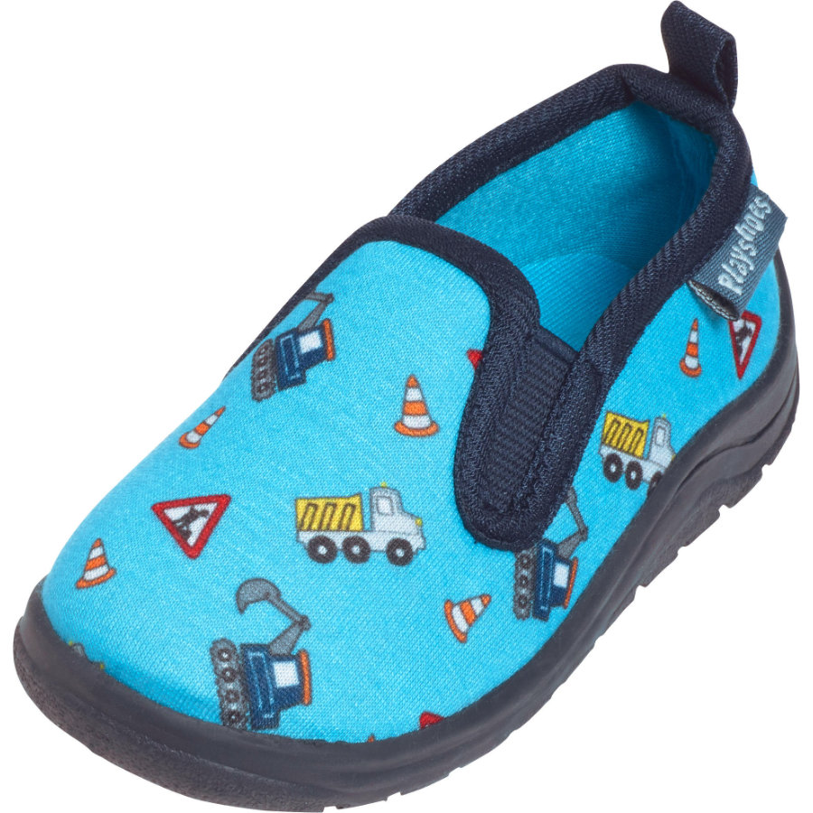 Playshoes  Pantofole cantiere blu