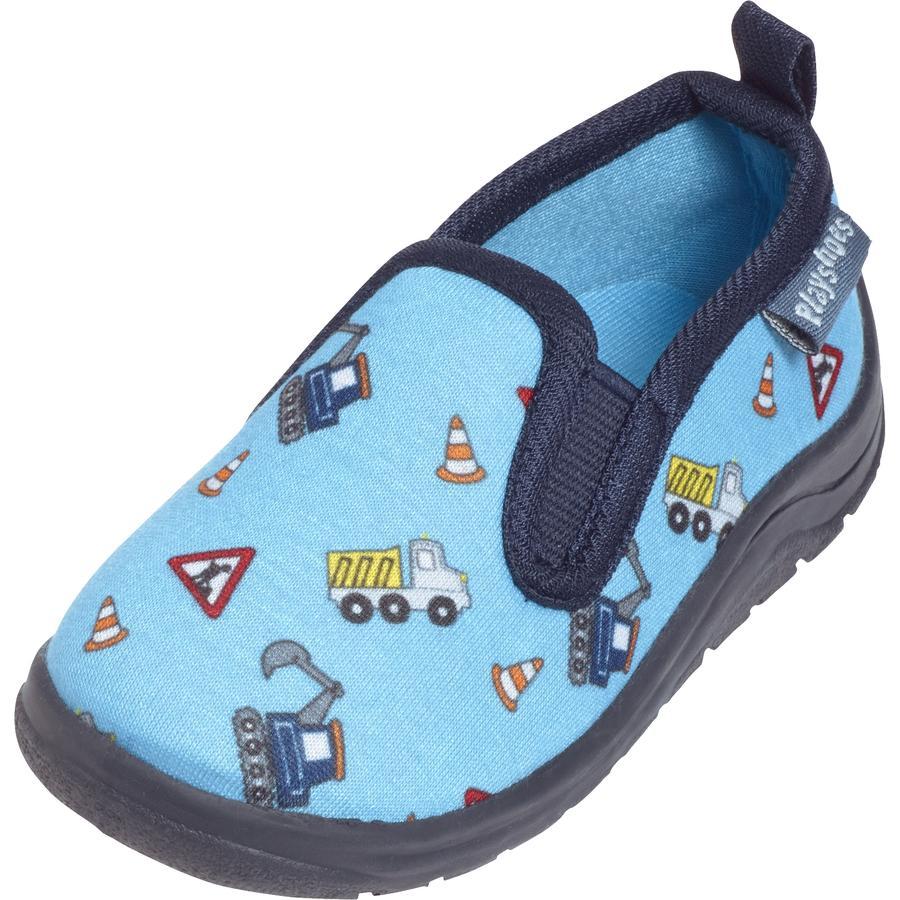 Playshoes Toffel byggarbetsplats blå