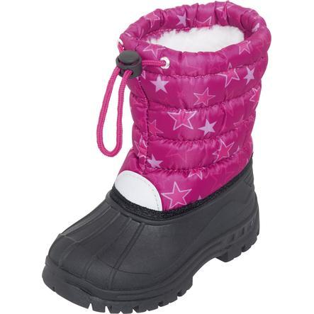 Playshoes  Boatie Étoiles d'hiver rose