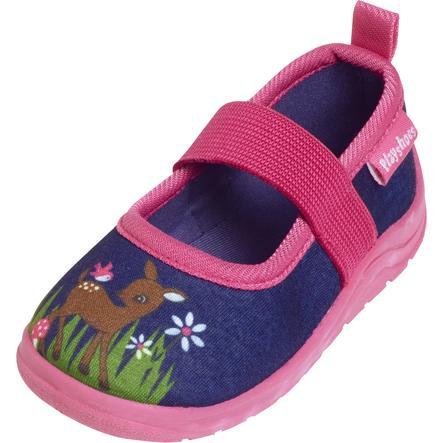Playshoes  Tøffelhjort marine /rosa