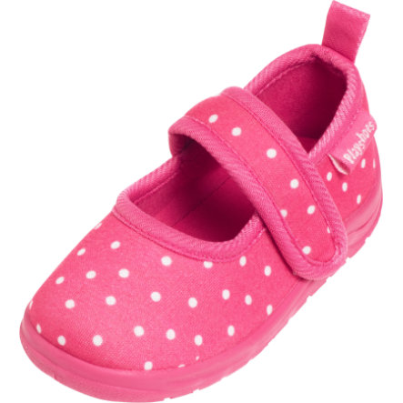 Playshoes Hausschuh Punkte pink