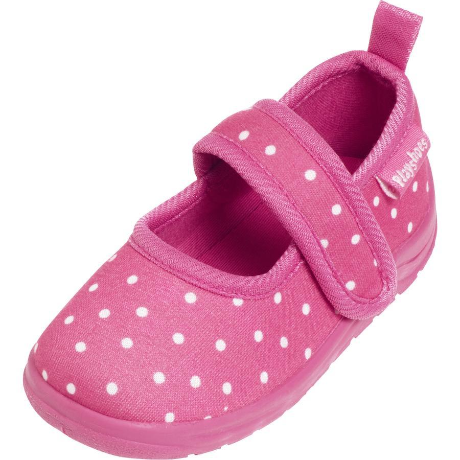 Playshoes  Tøffel prikker pink
