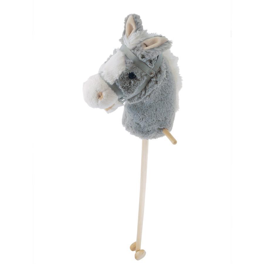 bieco Bâton à chevaucher enfant cheval Lolla bois gris