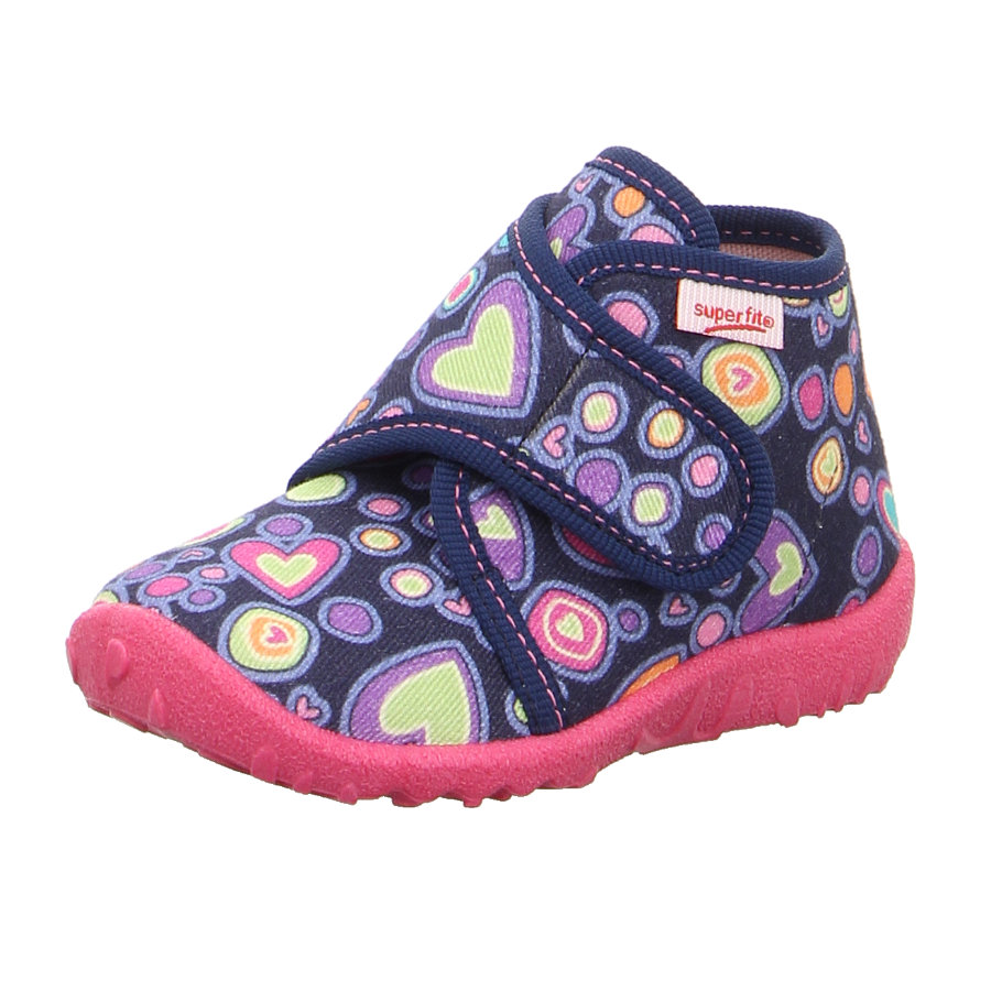 superfit  Girls Slipper vlekkerig blauw