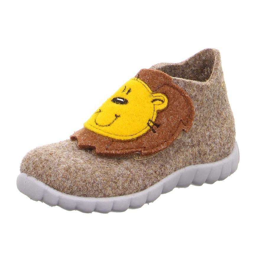 superfit Hausschuh Happy Löwe beige