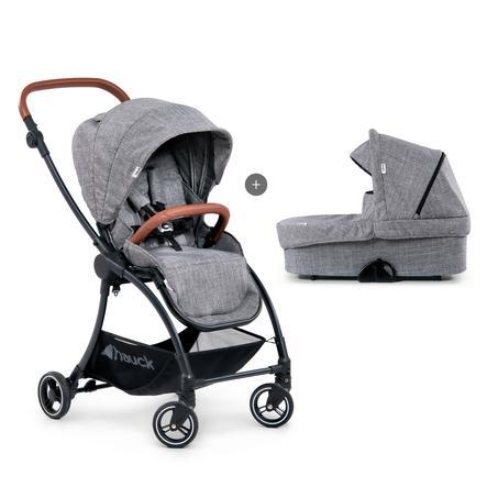 hauck Kombi-Kinderwagen Eagle 4S Duo Set Melange Grey