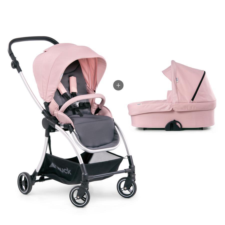 hauck Kombi-Kinderwagen Eagle 4S Duo Set Pink/Grey