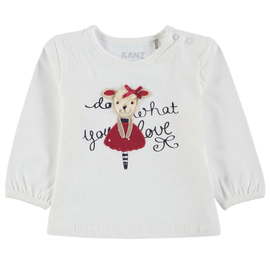 KANZ Girls Shirt met lange mouwen, wit