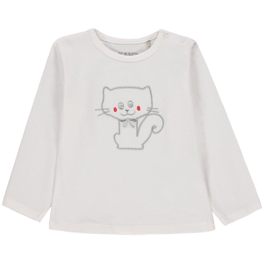 KANZ Koszulka z długim rękawem dla niemowląt, biała
