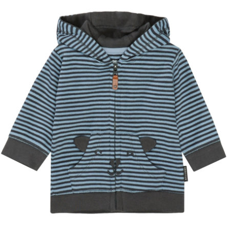 STACCATO Boys Sweatjacke dark grey gestreift