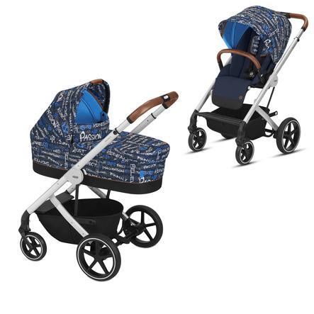 cybex GOLD Kinderwagen Balios S und Kinderwagenaufsatz Cot S -Trust Blue