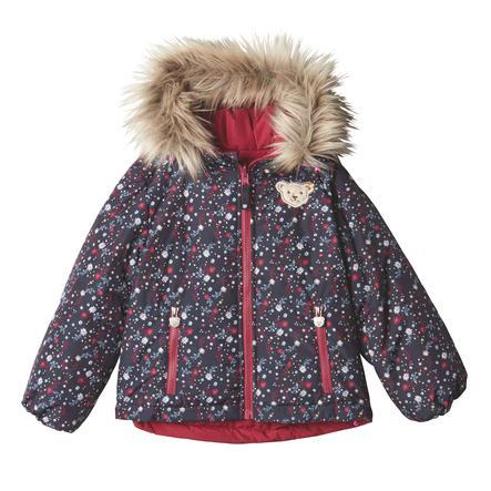Steiff Girls Oboustranná bunda, červená řepa
