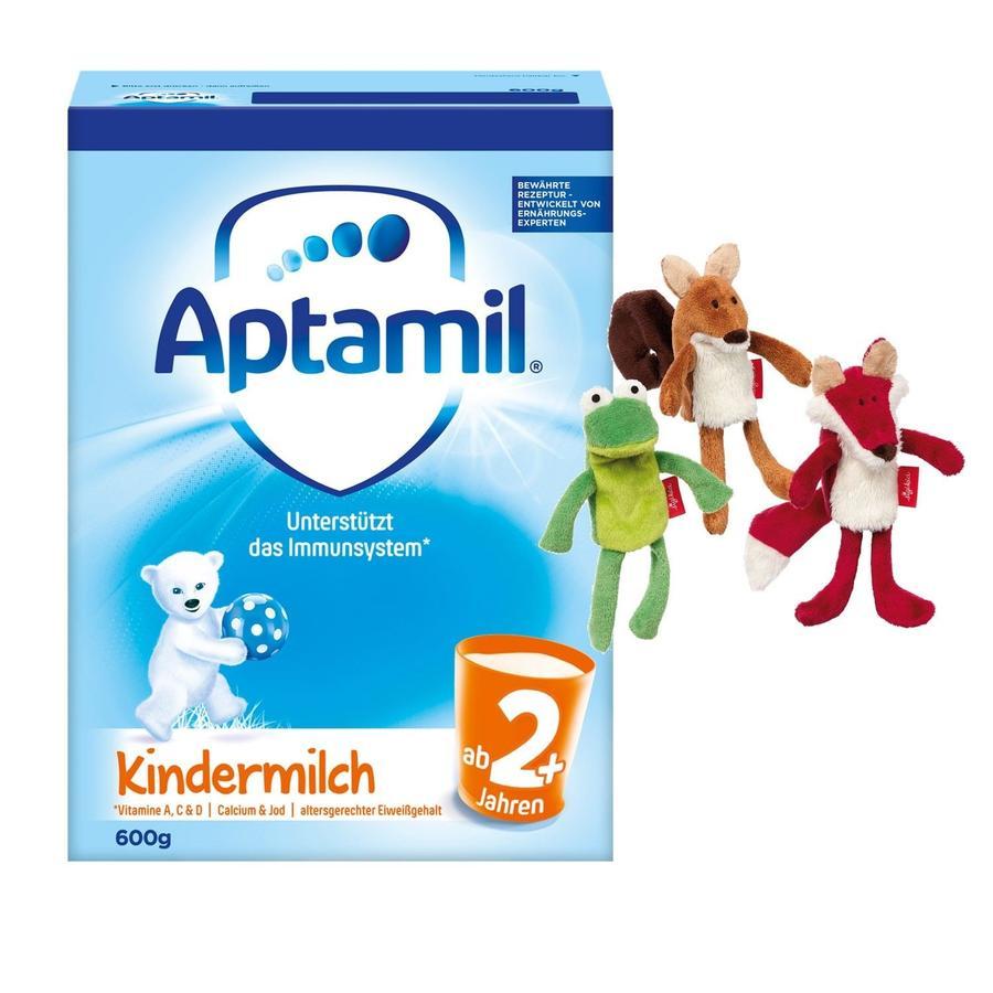 Aptamil Kindermilch 2+ 600 g + sigikid® Fingerpuppe gratis ab dem 1. Jahr