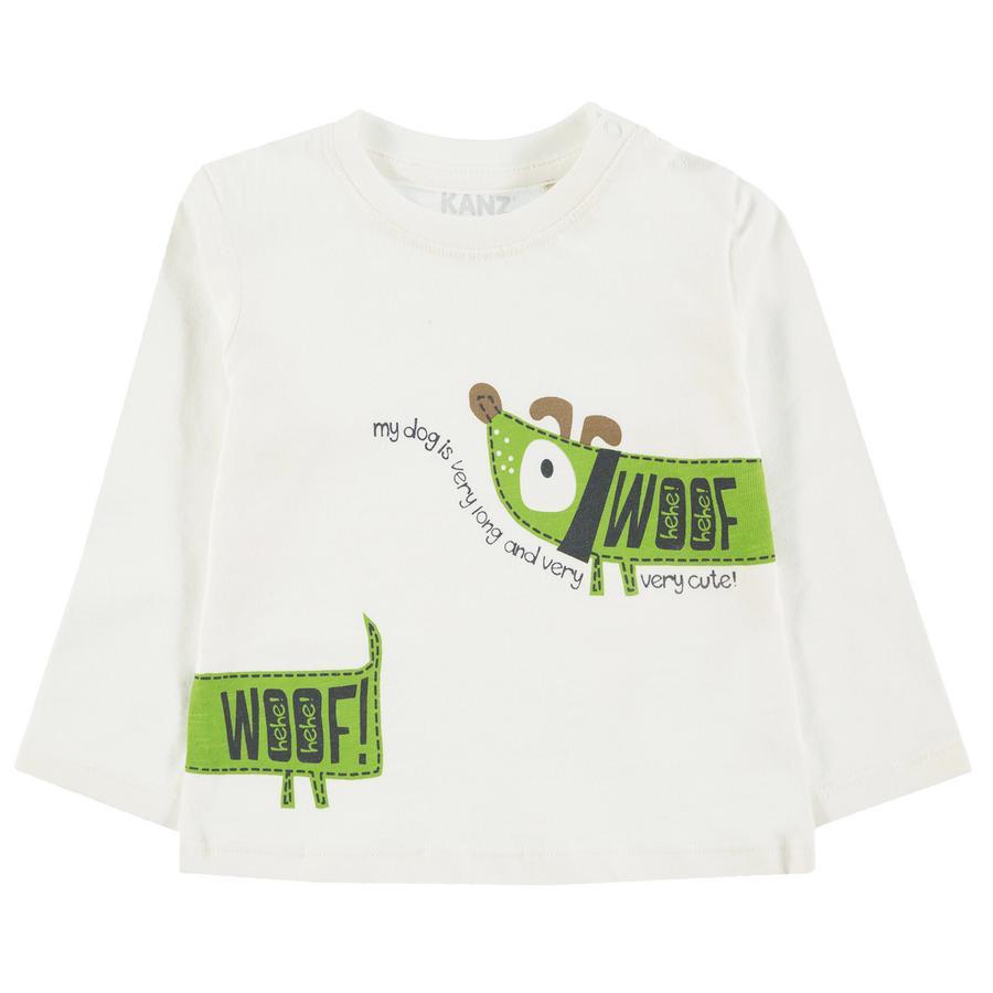 KANZ Camisa manga larga de niño, blanca