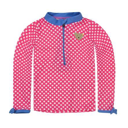 Steiff Girls Shirt med UV-beskyttelse prikker pink