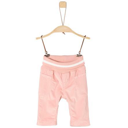 s.Oliver Girls Cordhose pink mit weißem Bund