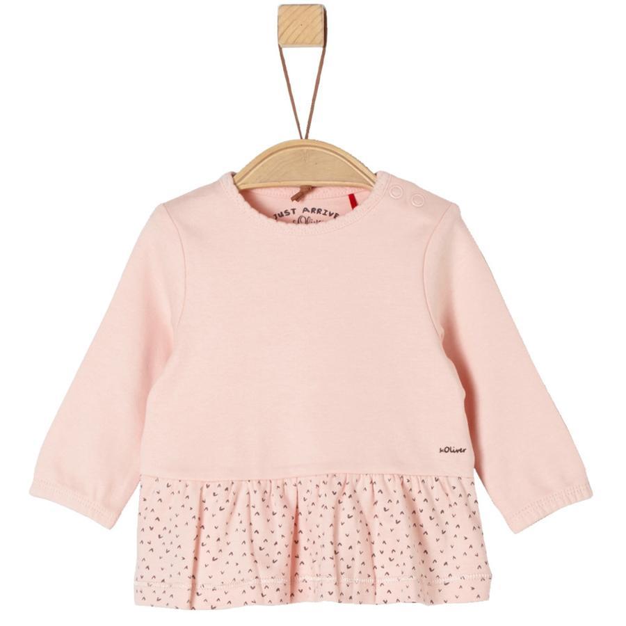 s.Oliver Girl s camisa de manga larga rosa festivo