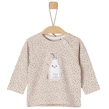s. Oliver Pitkähihainen paita beige melange