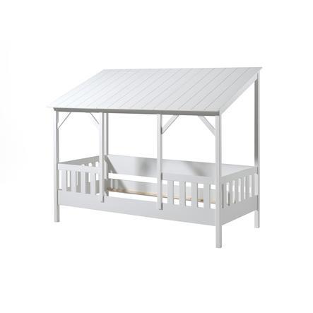 VIPACK Hausbett 90 x 200 cm mit weißem Dach