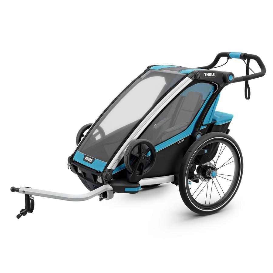 THULE Remolque para bicicletas Chariot Sport 1 Azul-negro