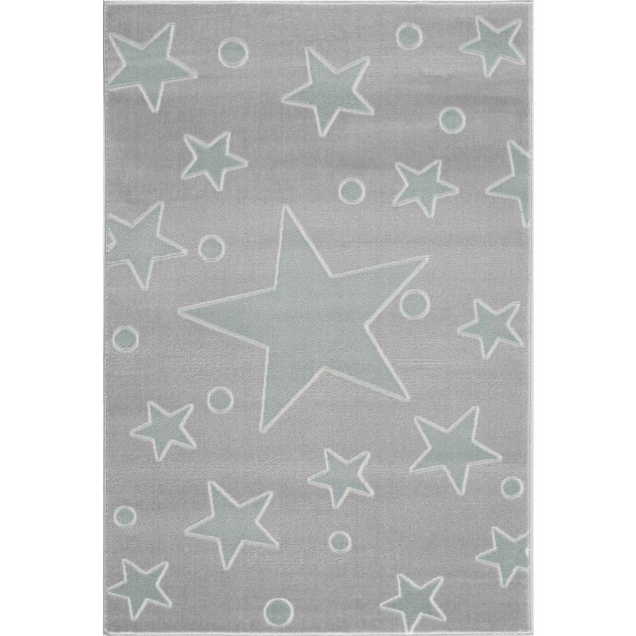 LIVONE Spiel- und Kinderteppich Happy Rugs Estrella silbergrau/mint 120 x 180 cm