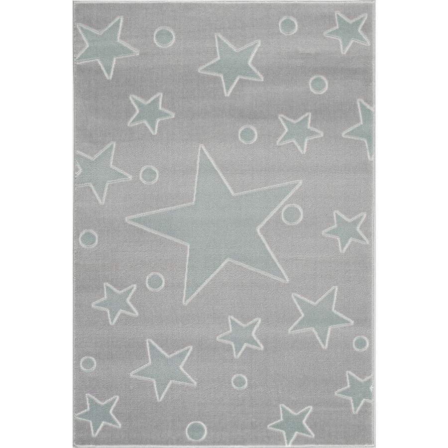LIVONE Dywan dziecięcy Happy Rugs Estrella 160 x 230 cm, kolor srebrnoszary/miętowy