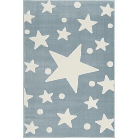LIVONE-leikki ja lasten matto Happy Rugs Estrella sininen / valkoinen 100 x 160 cm