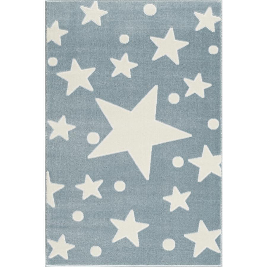 LIVONE play and children's tæppe Happy Rugs Estrella blå / hvid 160 x 230 cm