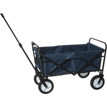 bieco Chariot de transport à main pliable pour enfant, bleu