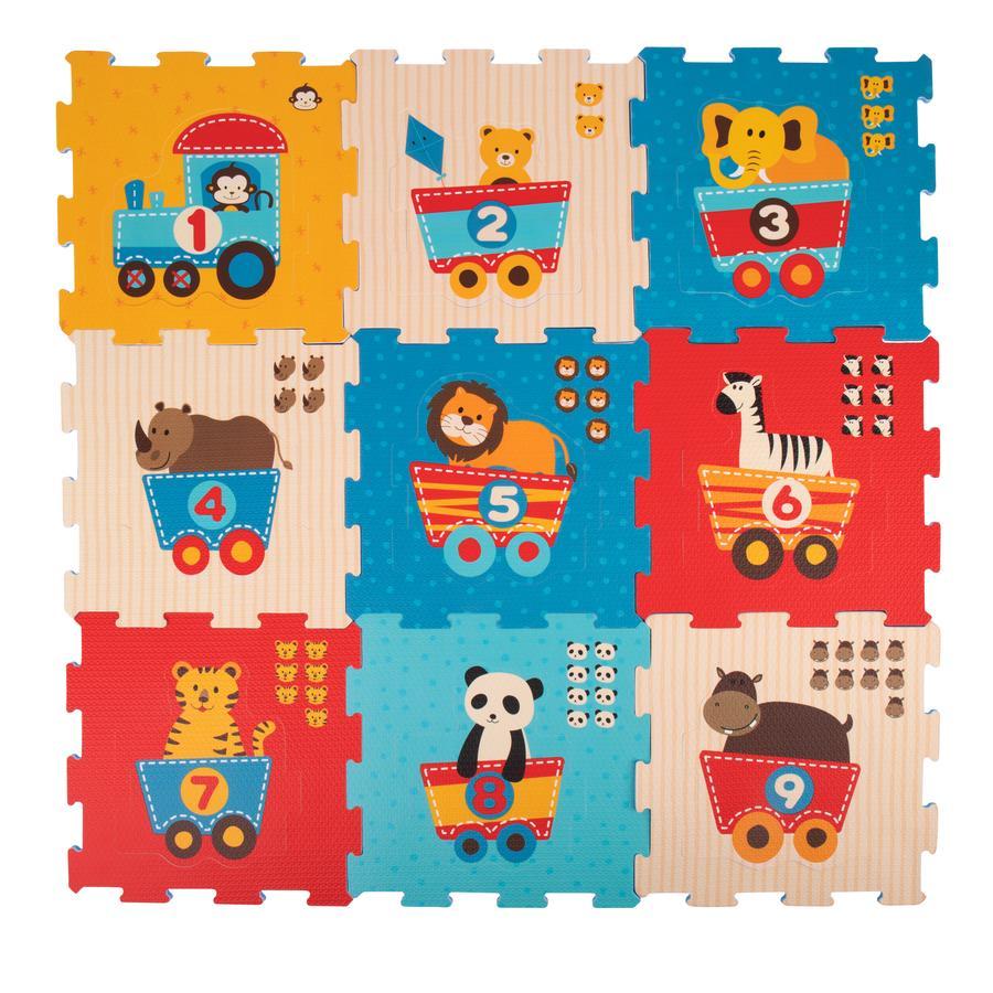 Bieco Mata/Puzzle - Pociąg ze zwierzętami