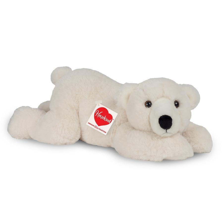 Teddy HERMANN® Hjertebarn - isbjørn Richi 42 cm