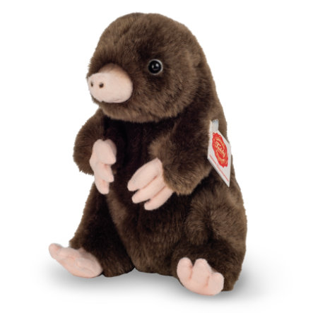 Teddy HERMANN® Peluche taupe assise 19 cm