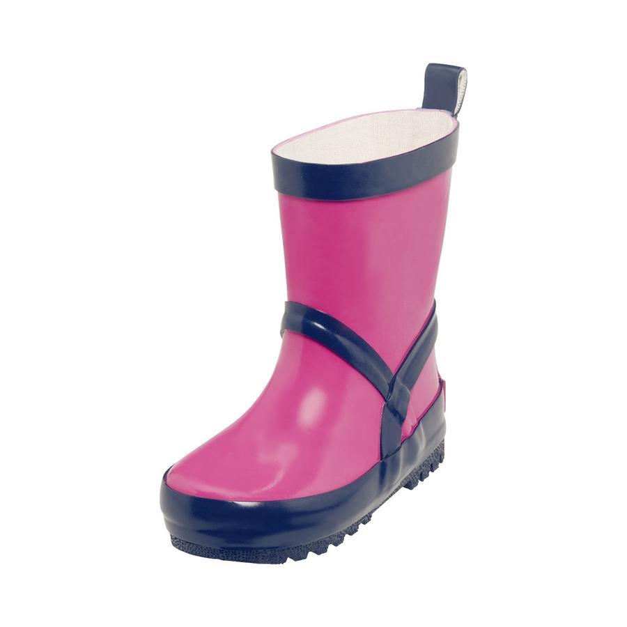 Playshoes  Gumová bota růžová/ marine