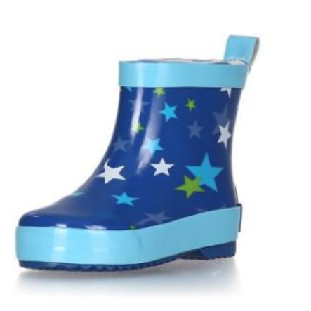 Playshoes Bottes enfant caoutchouc demi-tige étoiles bleu