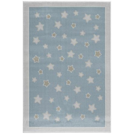 LIVONE play a dětský koberec Happy Rugs - Planet modrá / stříbrná šedá, 120 x 180 cm
