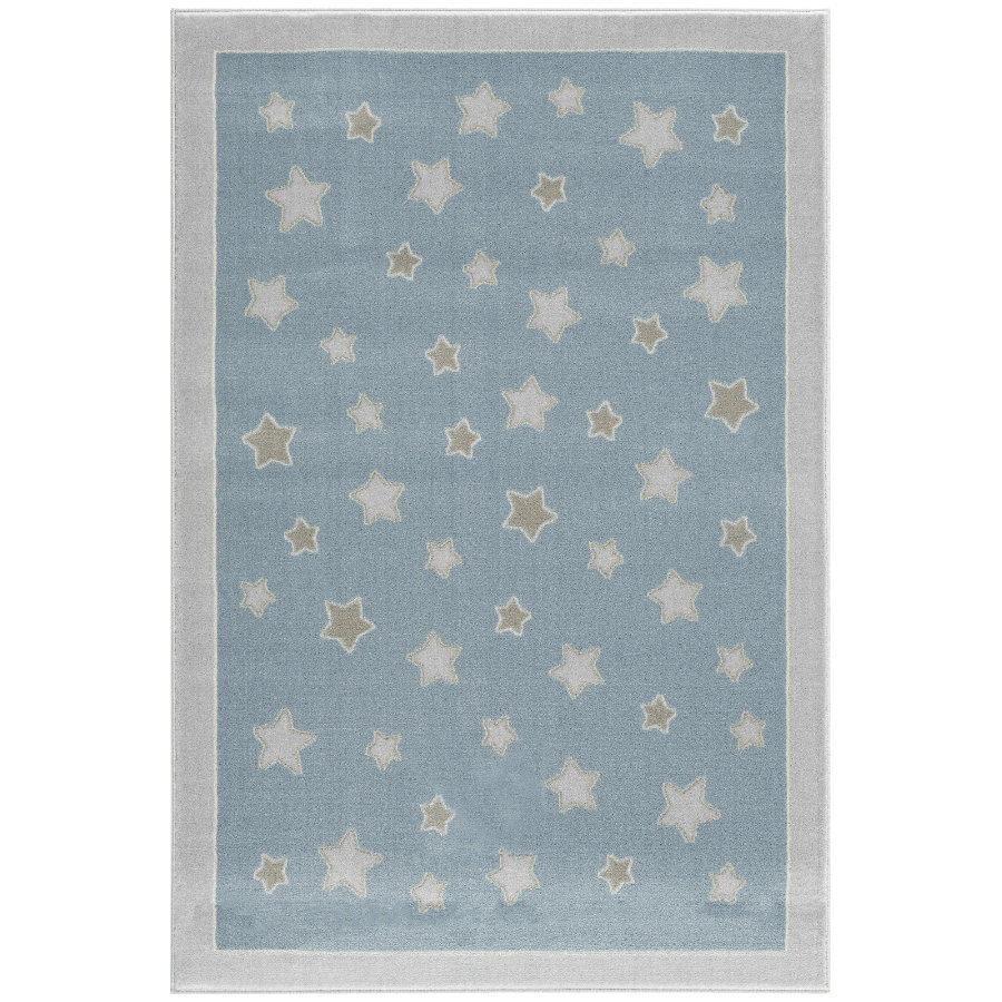 LIVONE Barnmatta Happy Rugs Planet blå/silvergrå, 120 x 180 cm