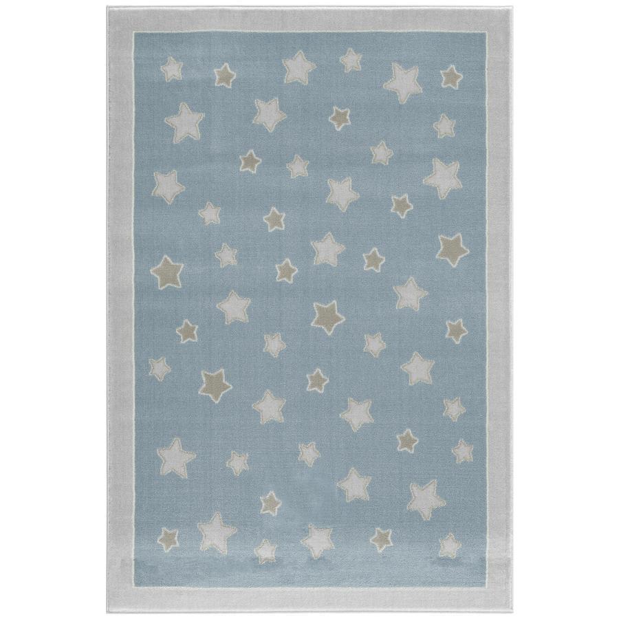 LIVONE play a dětský koberec Happy Rugs - Planet modrá / stříbrná šedá, 160 x 230 cm