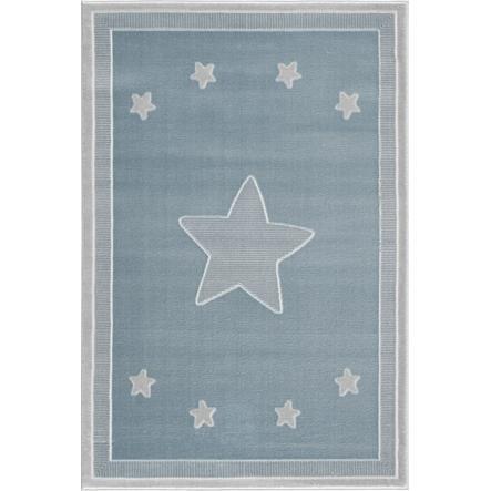 LIVONE leg og børnetæppe Happy Rugs - Prince ss blå / sølvgrå, 120 x 180 cm