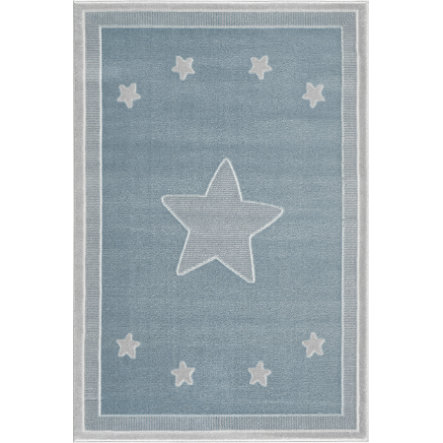 LIVONE Tappeto da gioco per bambini Happy Rugs - Princess blu/argento-grigio, 120 x 180 cm