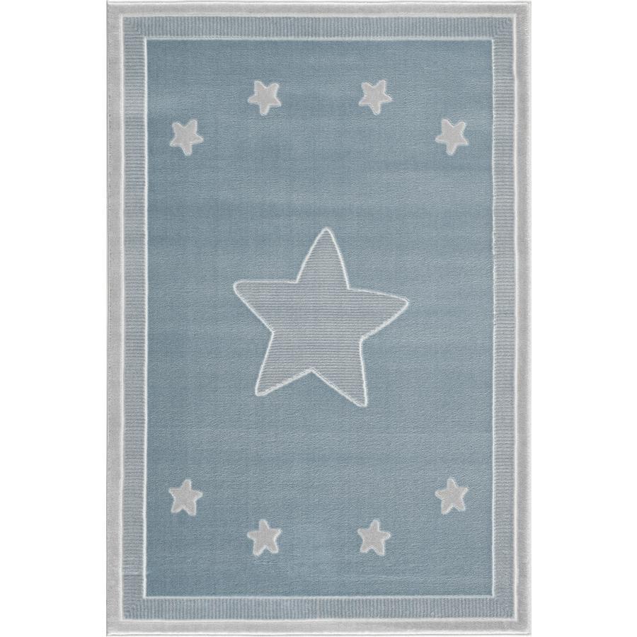 LIVONE Matto Happy Rugs - Prince ss sininen / hopeanharmaa, 120 x 180 cm