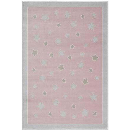 LIVONE play a dětský koberec Happy Rugs - Planet růžová / stříbrná šedá, 120 x 180 cm