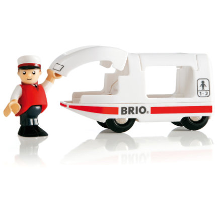 BRIO Passegerartåg och förare 33508