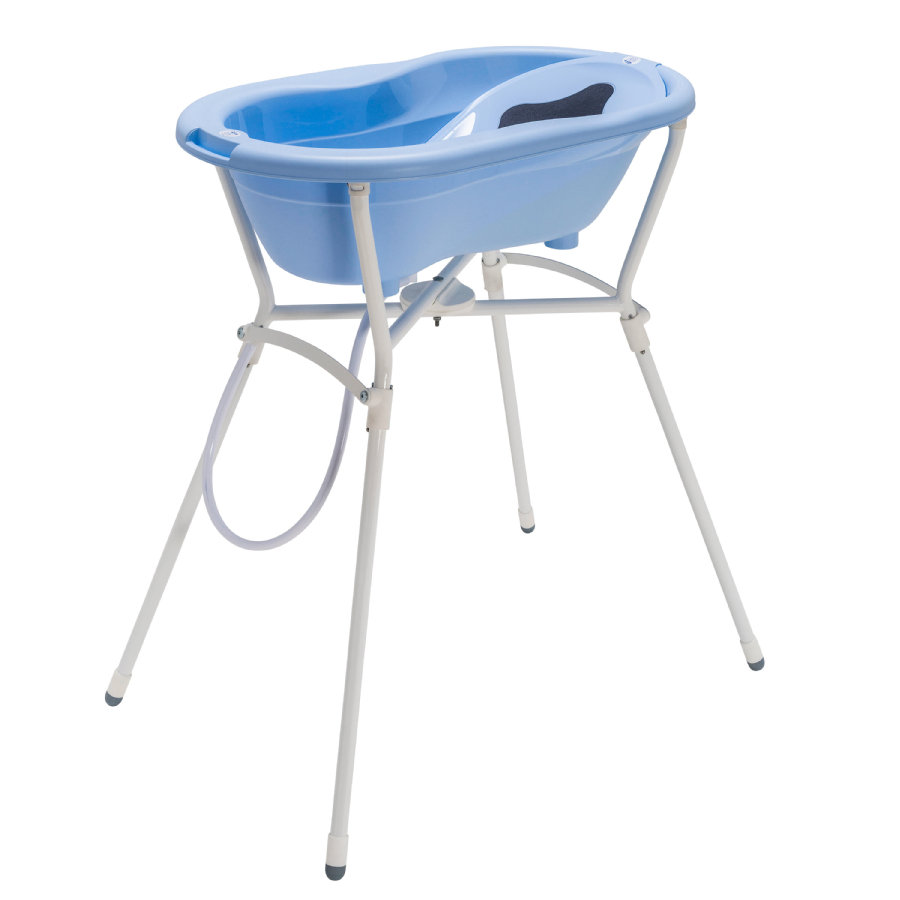 Rotho Set de bain baignoire sur pieds bébé TOP 4 pièces sky blue