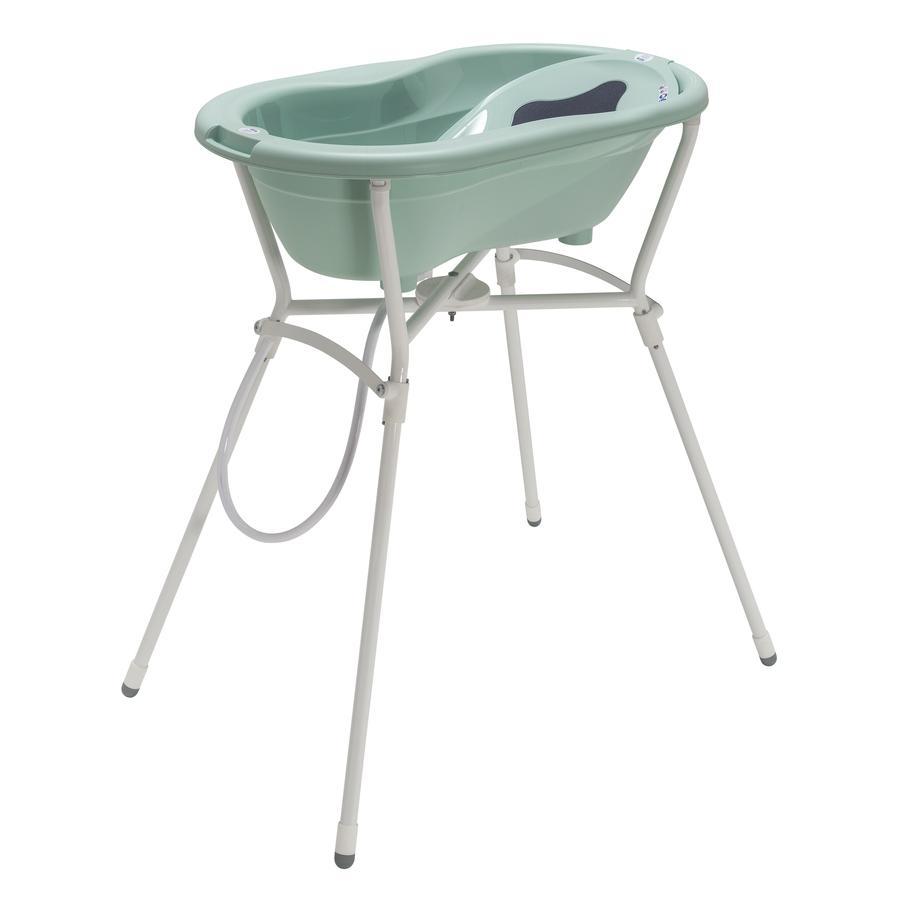 Rotho Babydesign TOP Pflegeset 4-teilig mit Wannenständer swedish green