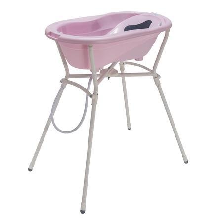 Rotho Babydesign TOP Pflegeset 4-teilig mit Wannenständer tender rose perl