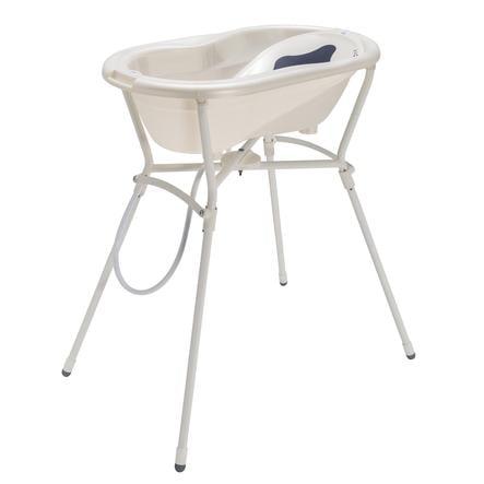 Rotho Babydesign TOP Pflegeset 4-teilig mit Wannenständer perlweiß creme