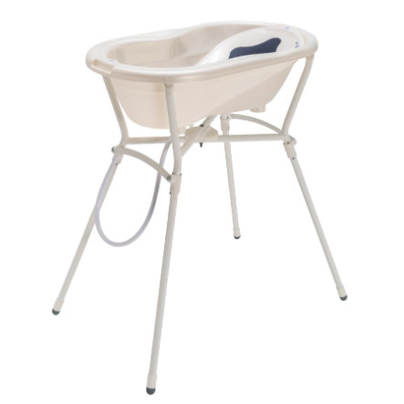 Rotho Babydesign TOP Pflegeset 5-teilig mit Wannenständer perlweiß creme