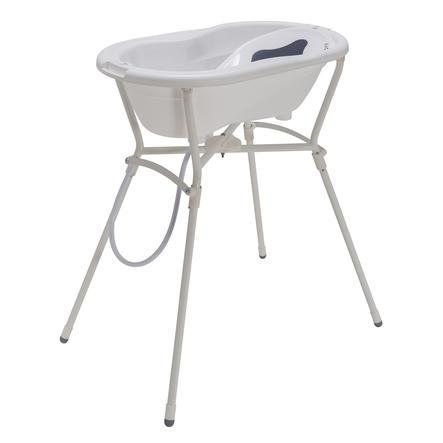 Rotho Set de bain baignoire sur pieds bébé TOP 4 pièces blanc