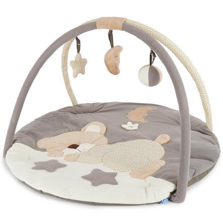 BIECO Couverture d'éveil avec arche d'activité Ours qui dort
